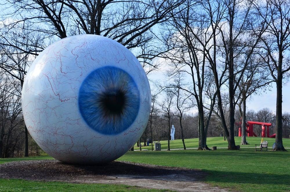 Heating Oil Near Me >> Tony Tasset; Eye; 2007; fiberglass, resin, oil paint, steel - Yelp