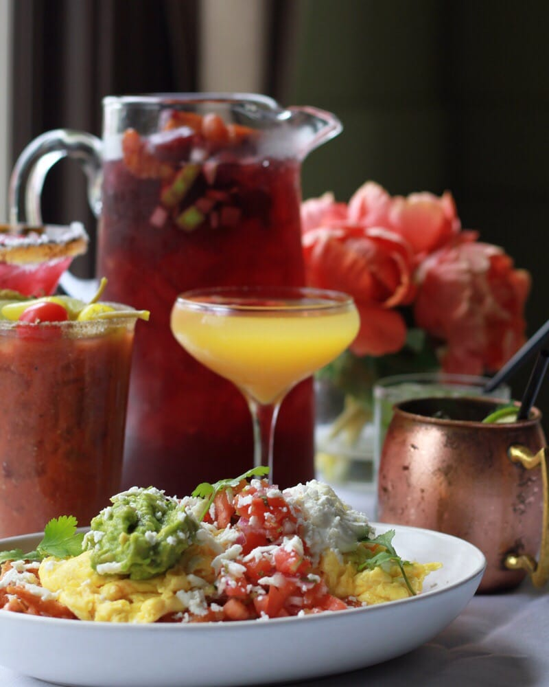Chilaquiles & Brunch Cocktails. Margarita & Sangria