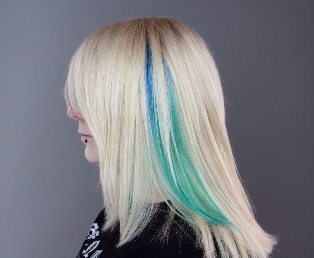 Double process color with ink works by associate hailey for Acquafredda salon