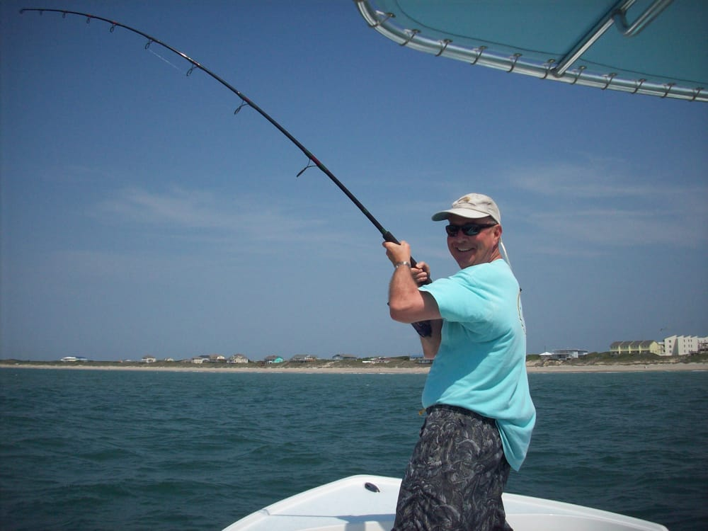 Shark fishing emerald isle nc yelp for Fishing morehead city nc