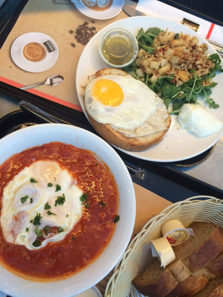 At Aroma shakshuka and hash at aroma in liberty my staple since i