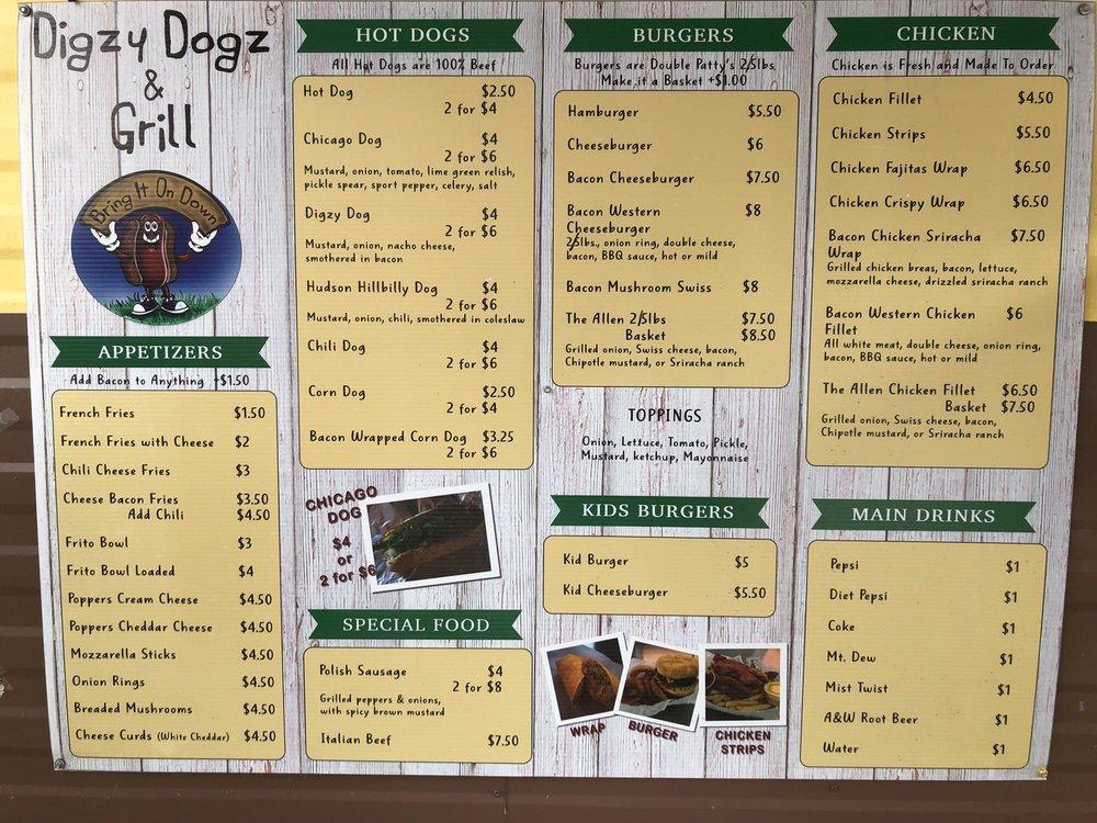 Digzy Dogz & Grill: E 700th N, New Carlisle, IN