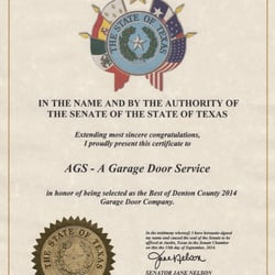 Photo Of AGS   A Garage Door Service   Denton, TX, United States ...