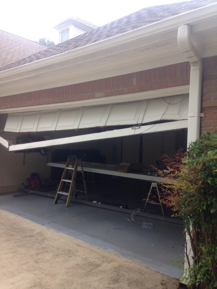 broken garage door in alpharetta georgia garage door