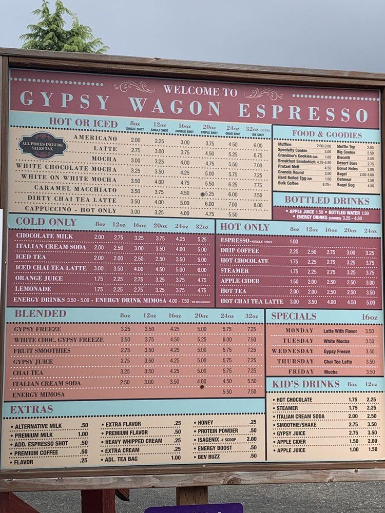Gypsy Wagon Espresso: 115 Washington Ave N, Eatonville, WA