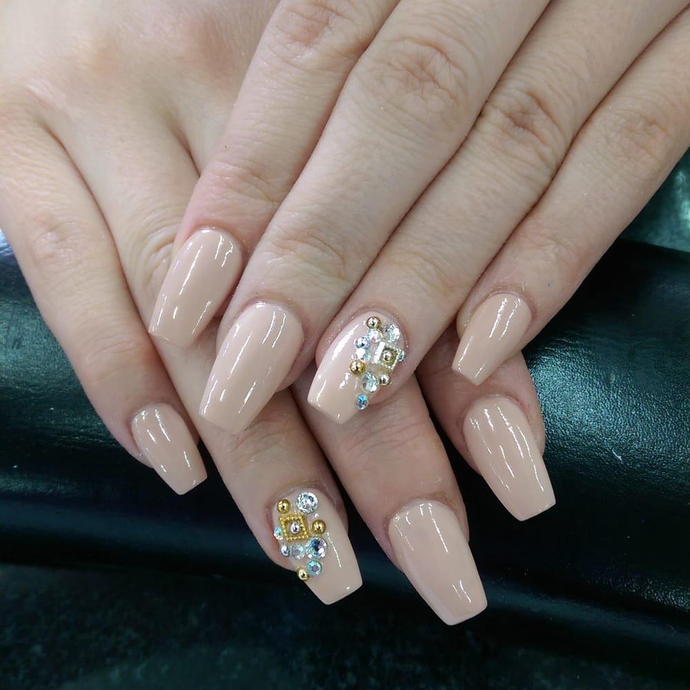 Diamonds On Acrylic Nails | Best Nail Designs 2018