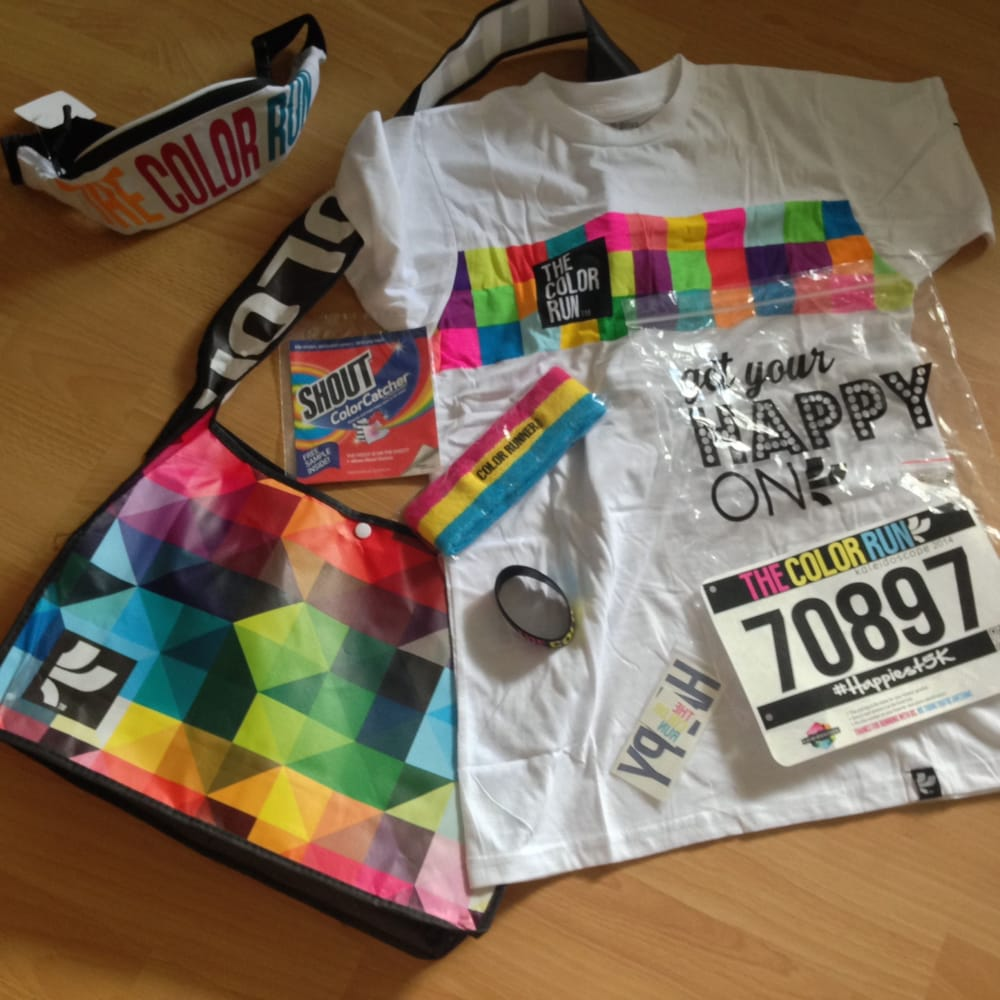 photo of the color run kapolei hi united states race packet for - Color Packets