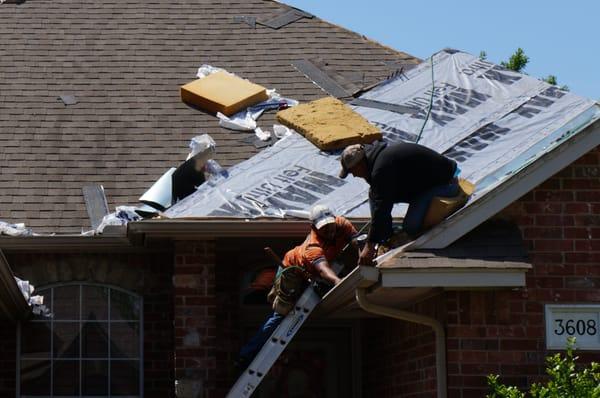 Amazing Photo Of Dynasty Roofing   Edmond, OK, United States. Working Hard Before  The