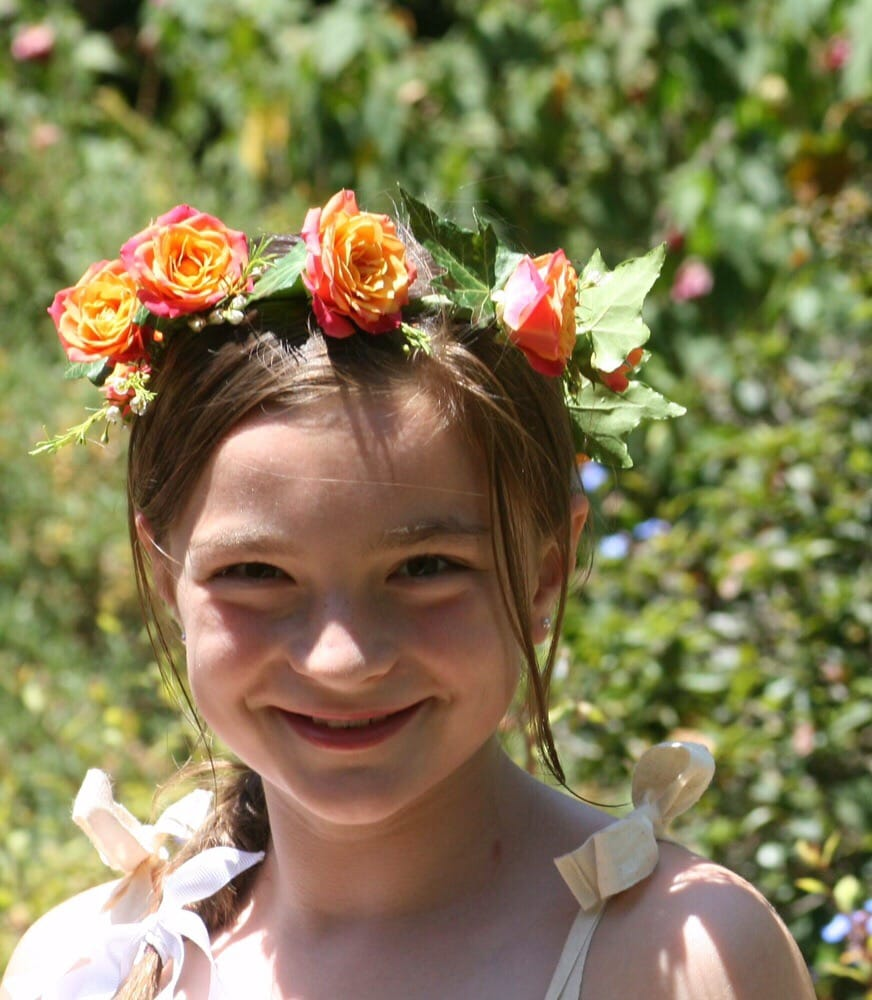 The Sweetest Flower Crown For The Sweetest Flower Girl Photo Credit
