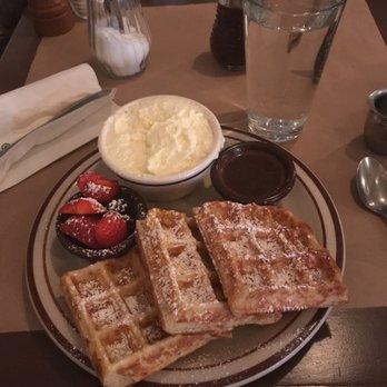 Photo of The Beehive - Boston, MA, United States. Belgium waffle
