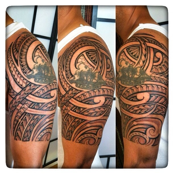 77b715f3f Tribal Poly by Jaye around my existing tattoo. - Yelp
