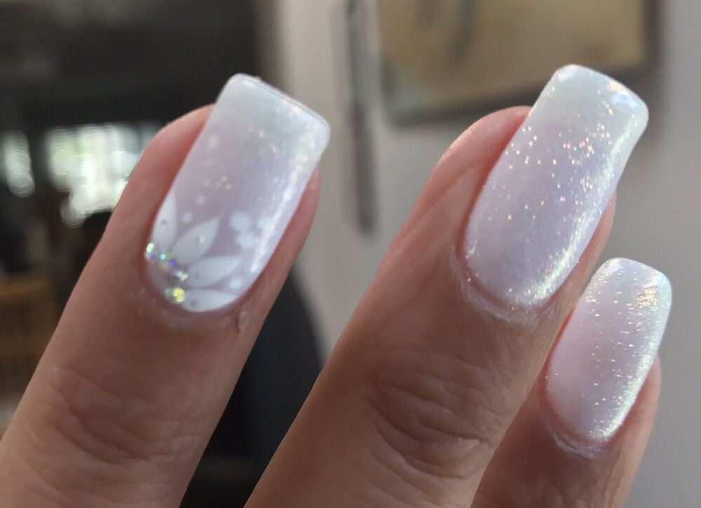beautiful bridal nails done by na i couldn 39 t be happier yelp