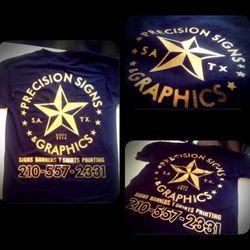 Precision signs graphics obtener presupuesto 15 for Custom t shirts san antonio tx