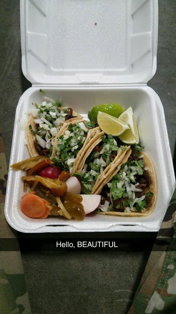 Food from Tacos La Estrella