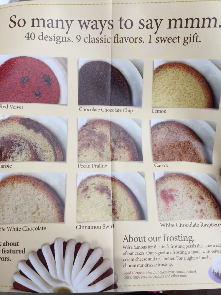 nothing bundt cakes flavors