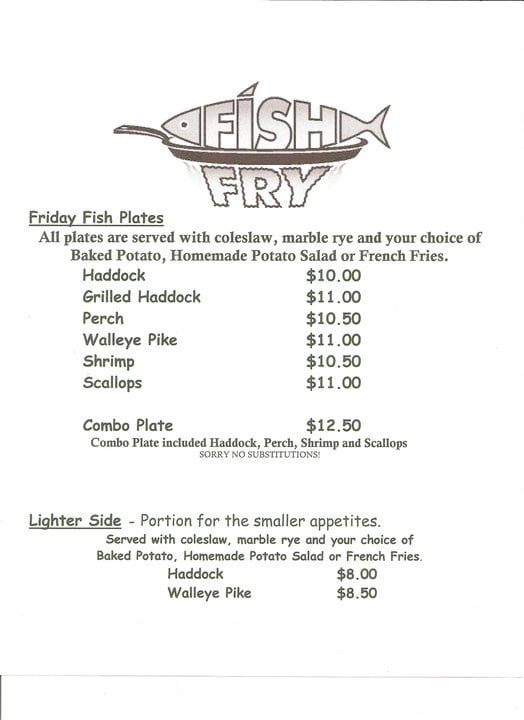 Fish fry menu yelp for Fish fry near me