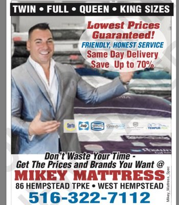 Mikey Mattress 86 Hempstead Tpke West Hempstead, NY Mattresses