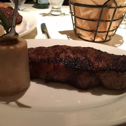 The Park Steakhouse - Park Ridge, NJ, United States. NY strip with fermented garlic butter