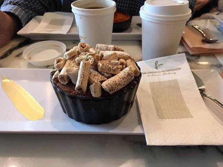 Tiramisu on a plate with decoration - Yelp on