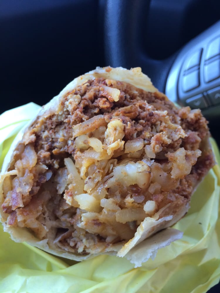 Chorizo Breakfast Burrito: Chorizo + Hash Browns + Eggs ...