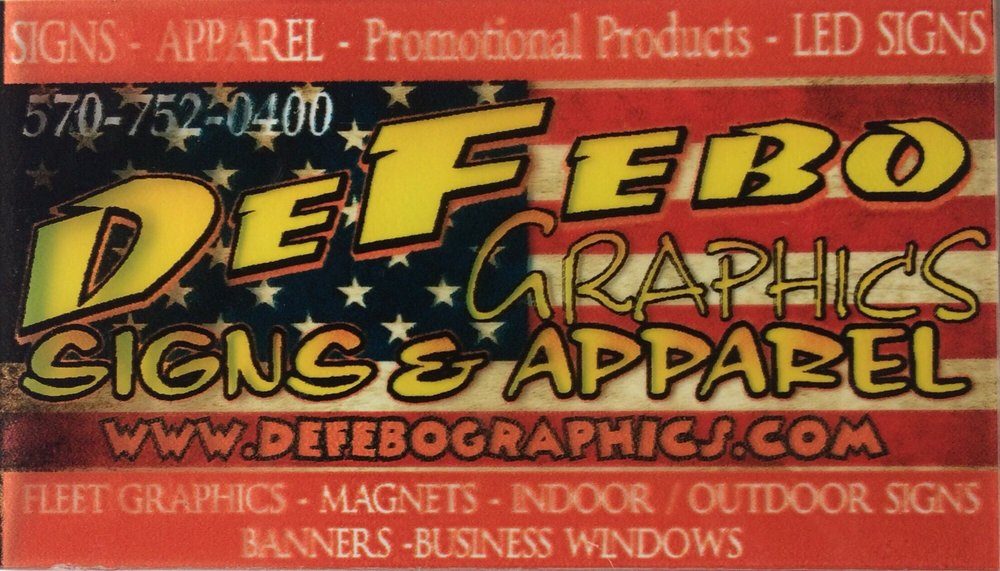 Defebo Graphics: 7553 Columbia Blvd, Berwick, PA