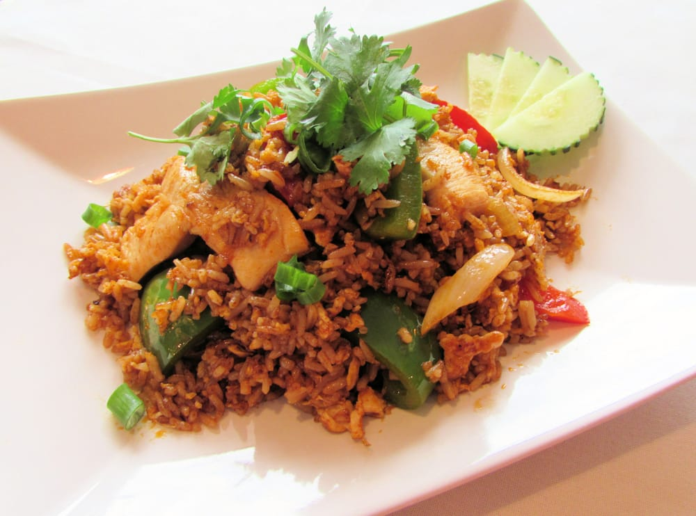Spices chicken fried rice stir fried rice with eggs for Asian 168 cuisine