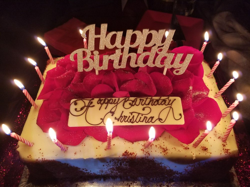 My Beautiful Birthday Cake From Portos It Was Absolutely Delicious
