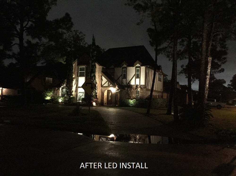 After outdoor led landscape lighting installation in houston yelp photo of tree worxx houston tx united states after outdoor led landscape aloadofball Image collections