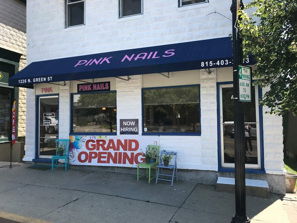 Pink Nails: 1224 N Green St, Mchenry, IL