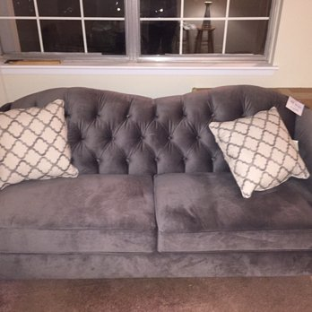 Photo of White Furniture   Wyandotte  MI  United States  Grey tufted couch  from. White Furniture   Furniture Stores   3025 Biddle Ave  Downtown