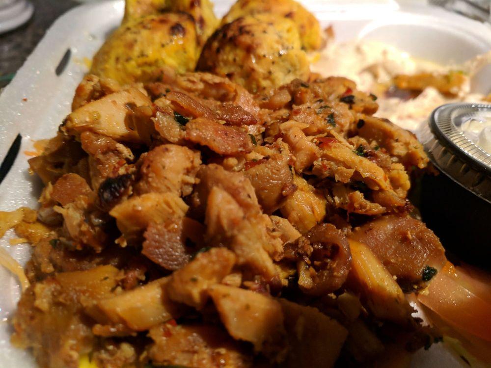 Food from Falafil Hut