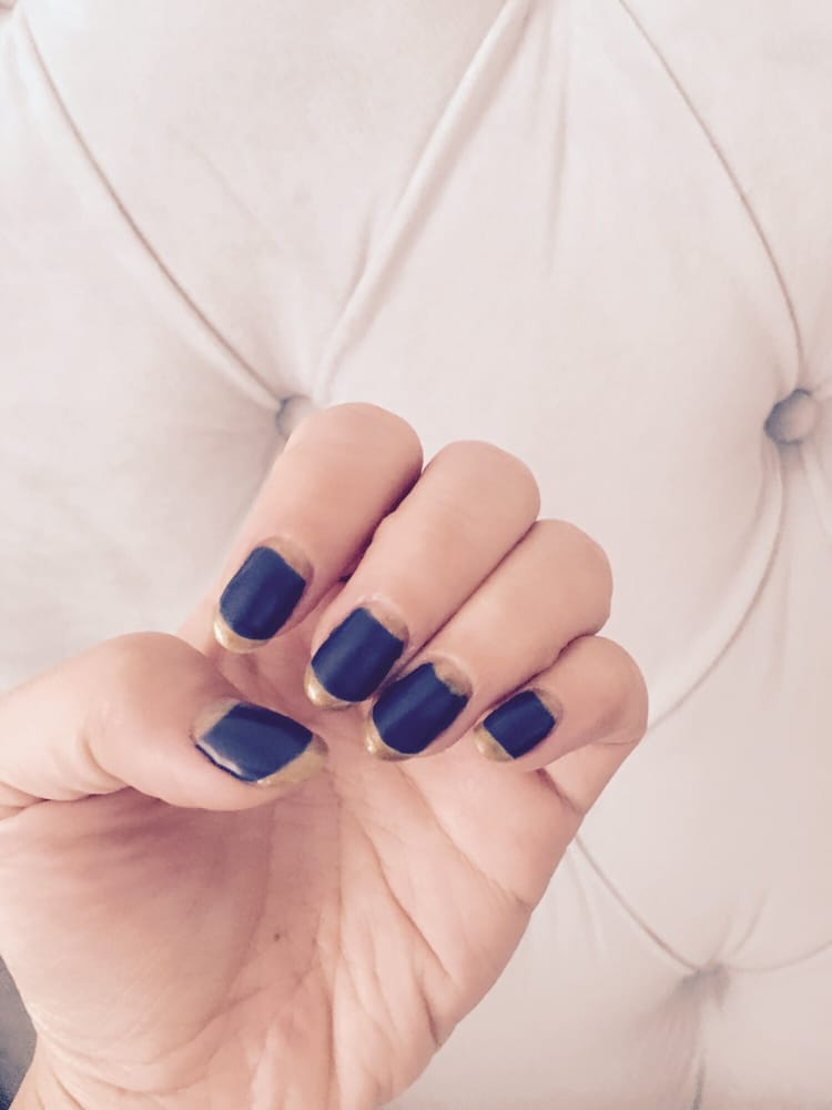 Gel matte blue with Gold trim by Linda - Yelp