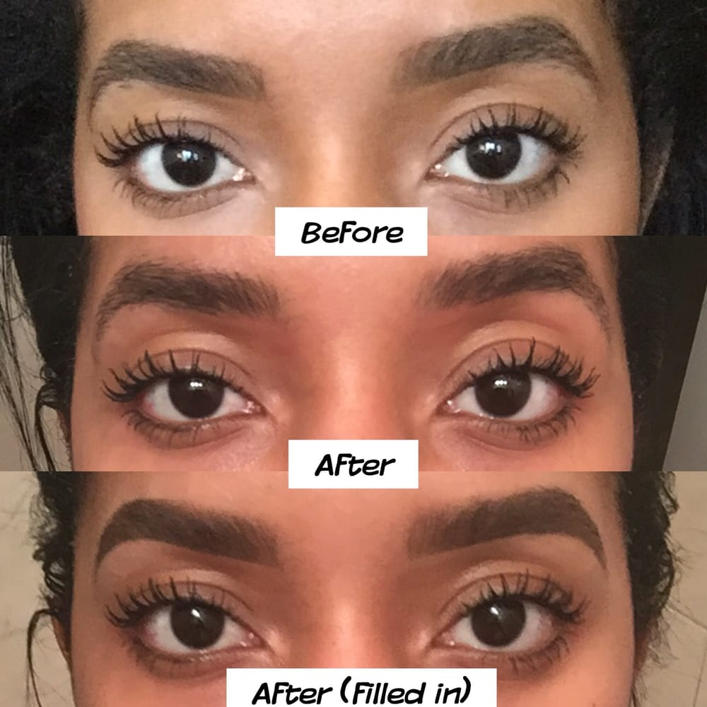 Eyebrows before, after & after filled in. Love them! - Yelp