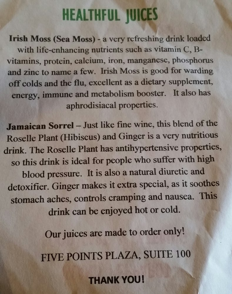 organic Irish moss is the special ingredient of our