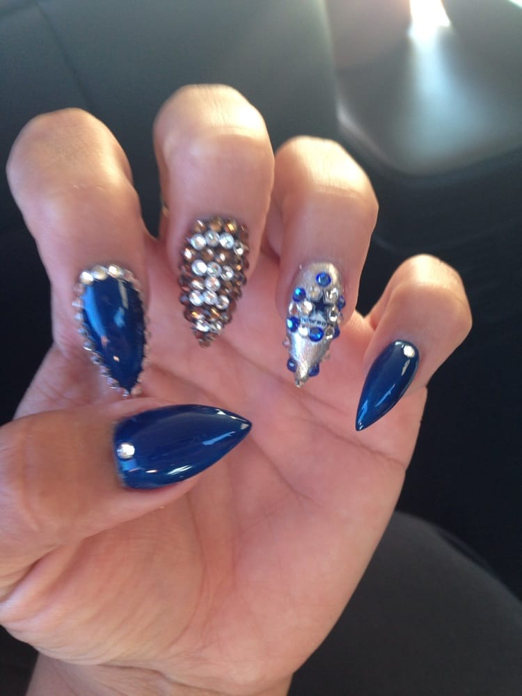 Dallas cowboy nails by ruby she 39 s the yelp for 3d nail salon upland ca