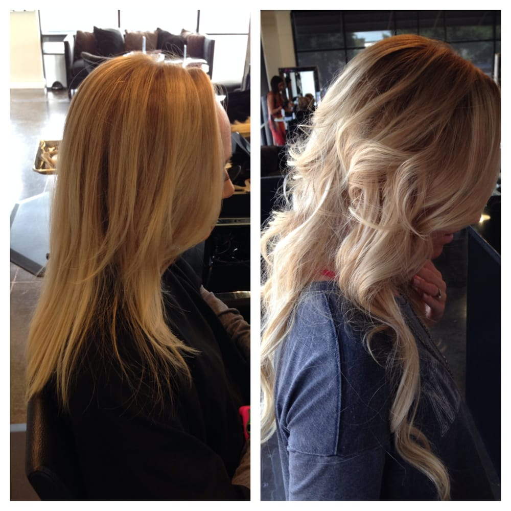 Reverse Ombre from platinum blonde. Five bundles of ...