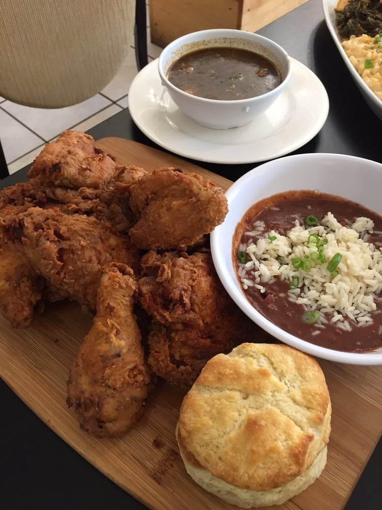 Fried chicken platter 8 piece very good yelp for Kitchen 713 reservations