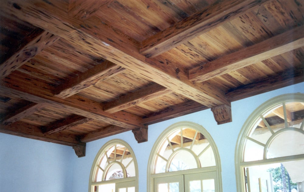 Quot Pecky Quot Cypress Paneling Beam Wraps And Corbels Yelp