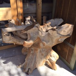 Photo Of Rustic Rooster   Delray Beach, FL, United States. Teak Root Table