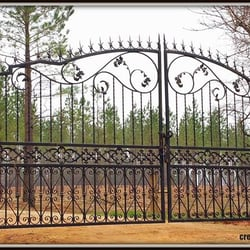 Photo Of Creative Iron Designs Charlotte Nc United States Wrought Driveway Gate