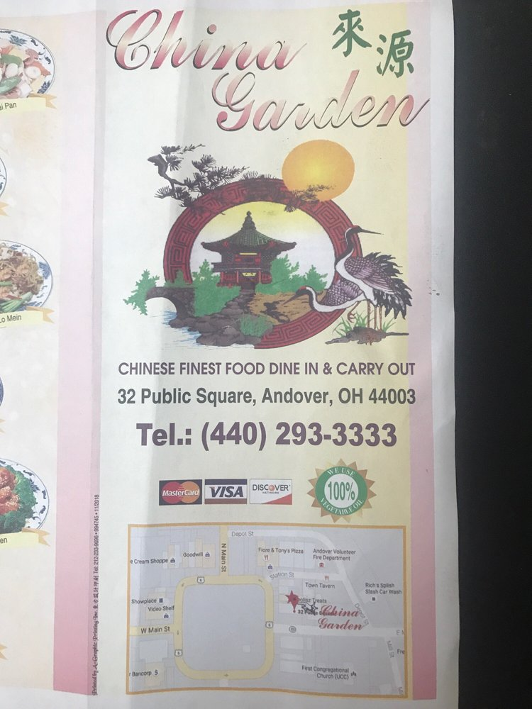 China garden: 32 Public Square, Andover, OH
