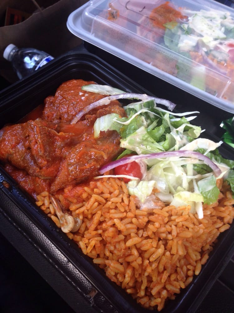 Jollof Rice With Chicken Stew And Salad Yelp
