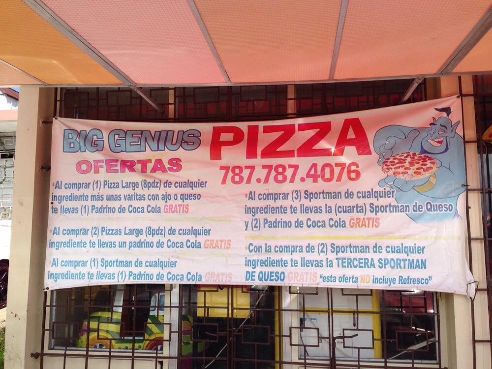 Big Genius Pizza: Calle Nogal, Bayamón, PR