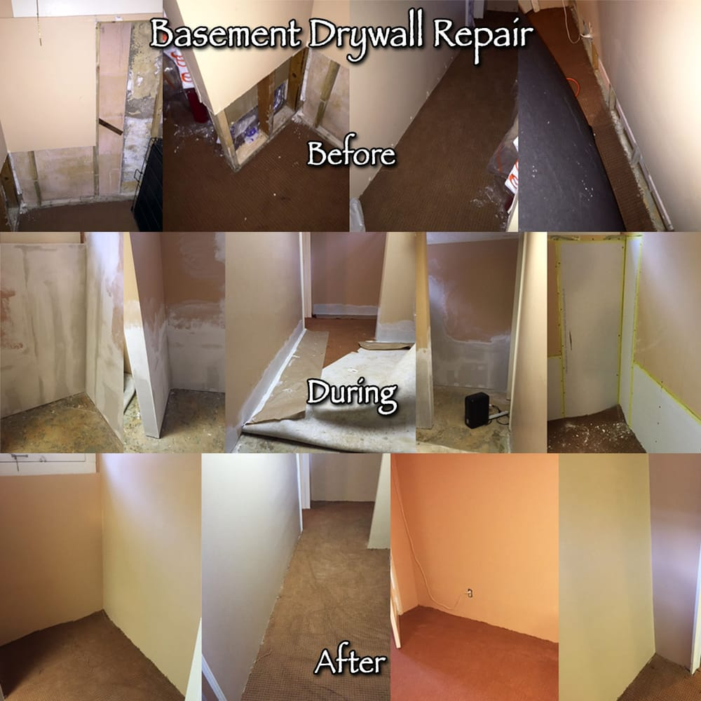 Basement Drywall Repair After Flood Restoration Company