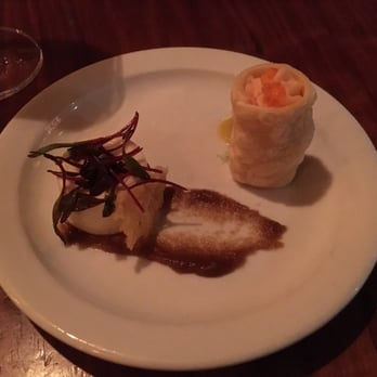 ... , United States. CELERY ROOT PANNA COTTA; SMOKED SALMON SPUMA CANNOLO