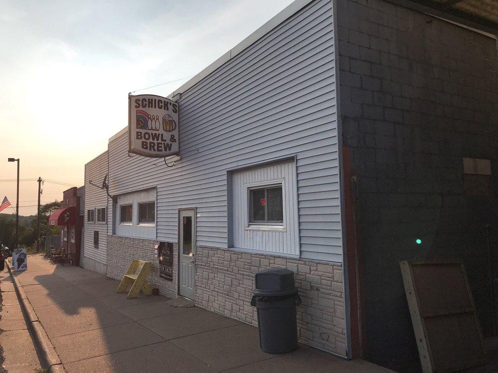 Schick's Bowl & Brew: 106 Main St, Cornell, WI