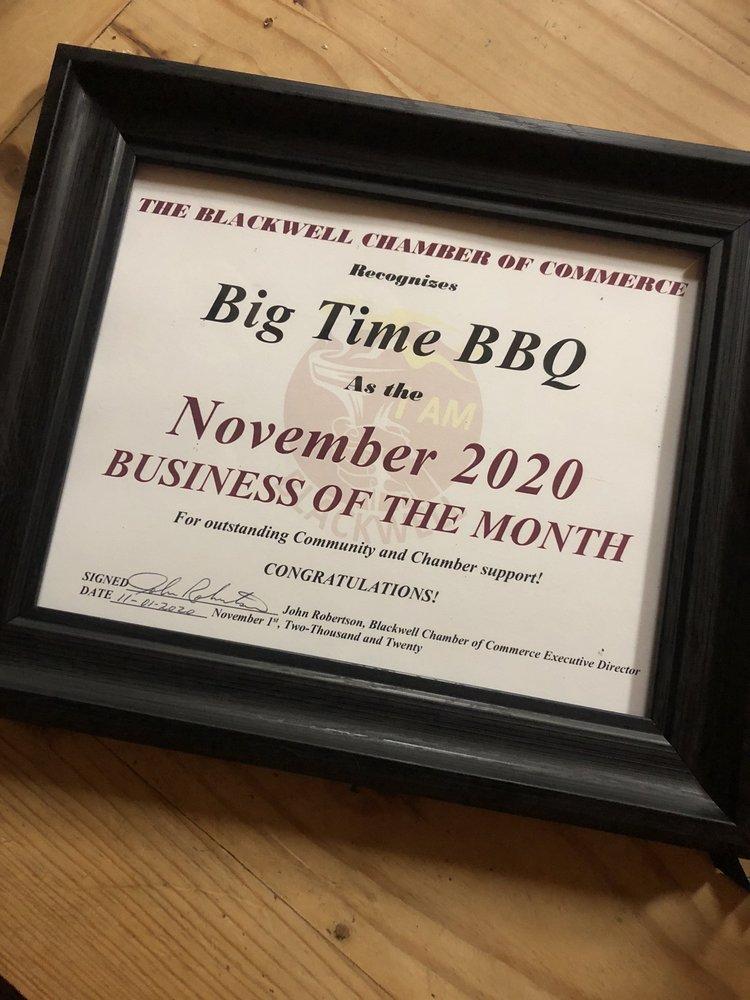 Big Time BBQ: 700 North 7th, Tonkawa, OK