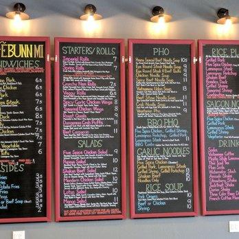 Cafe Bunn Mi South San Francisco Menu