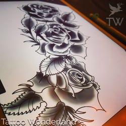 c67d46945 Photo of Tattoo Wonderland - Brooklyn, NY, United States. Dark roses. #