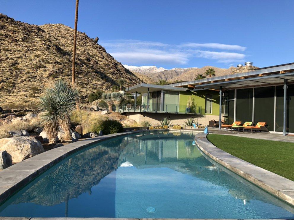 Sundance Pool and Landscape: Desert Hot Springs, CA